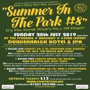 Summer In The Park – Sunday July 28th 2019